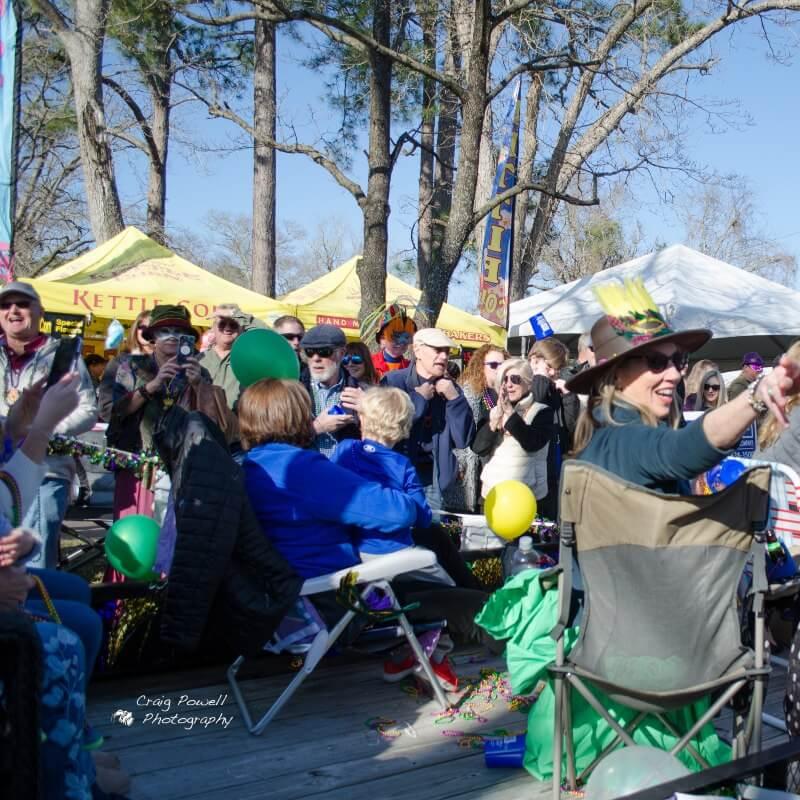 Entertainment area – New Bern Mardi Gras 2020