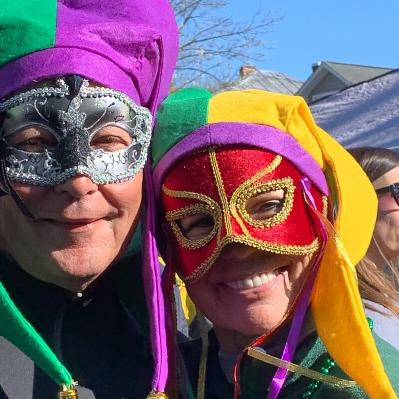 Mardi Gras – couple in Masks – New Bern