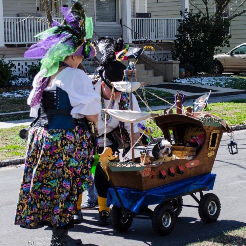 New Bern Mardi Gras – walking parade participant
